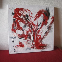 Coeur rouge 30×30